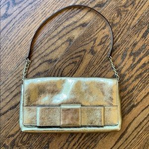 Kate Spade Gold Leather Clutch